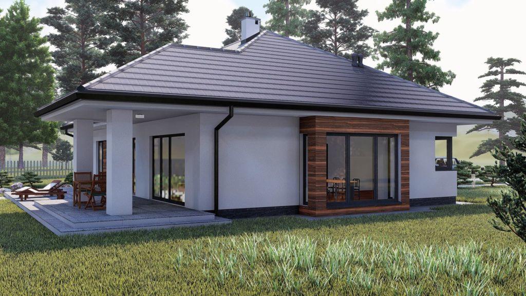 gotowy projekt domu parterowego KP-505