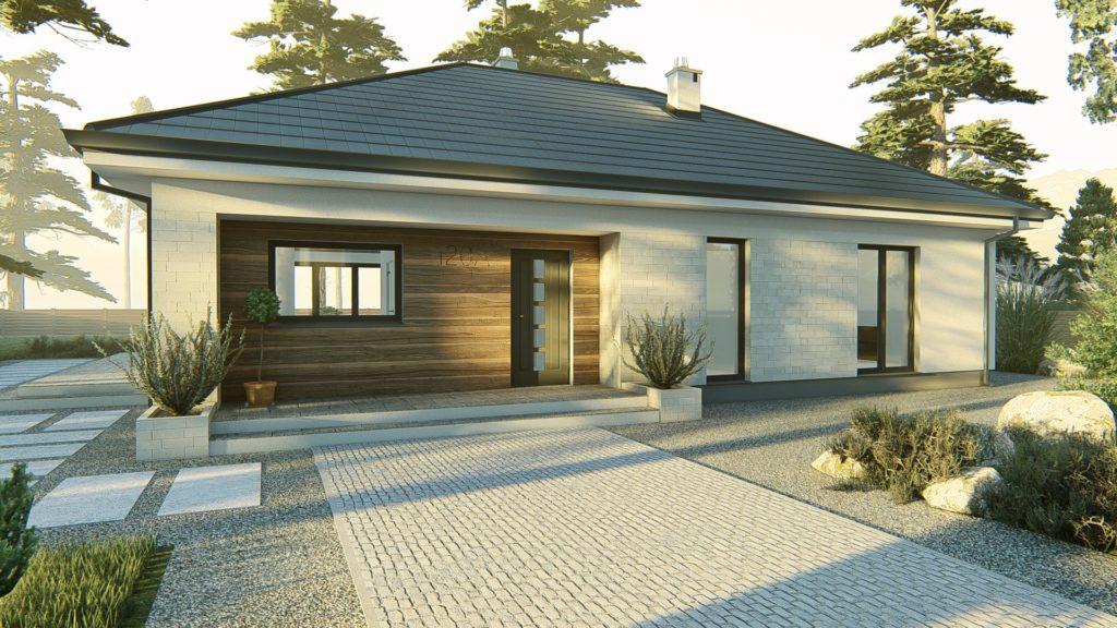 dom parterowy z dachem czterospadowym KP-120 (2)