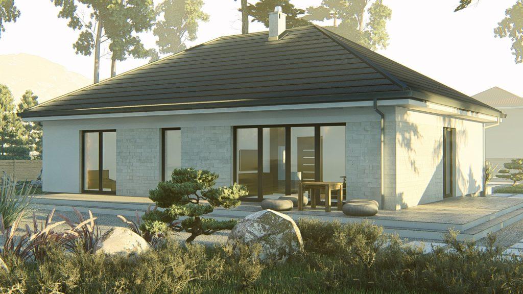 dom parterowy z dachem czterospadowym KP-120 (4)