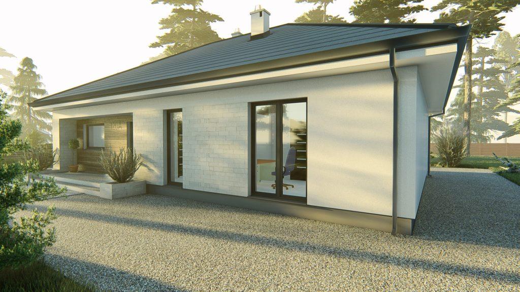 dom parterowy z dachem czterospadowym KP-120 (5)