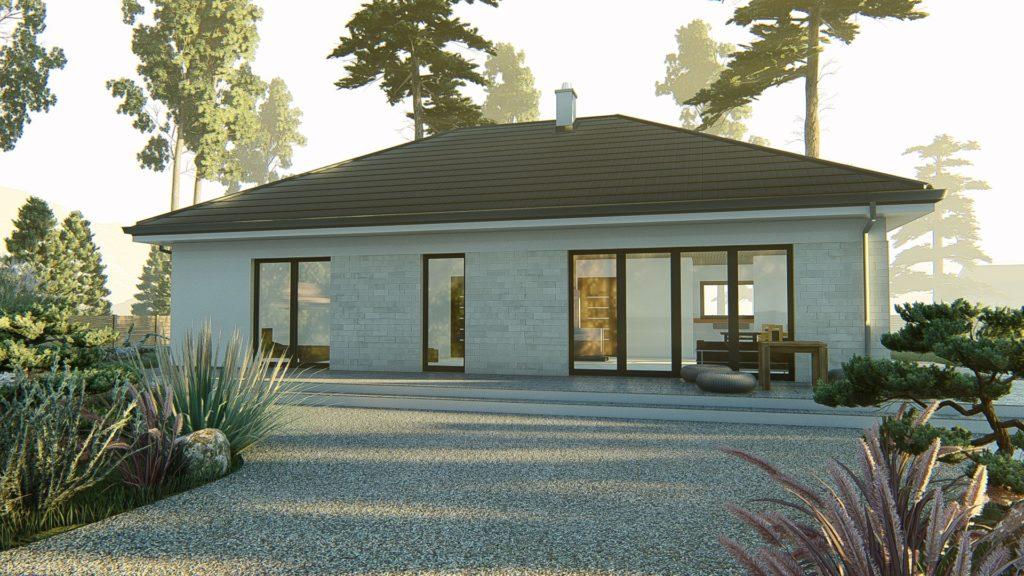 dom parterowy z dachem czterospadowym KP-120 (6)