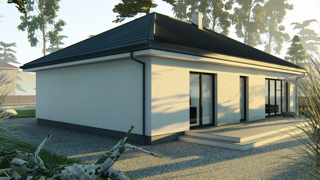dom parterowy z dachem czterospadowym KP-120 (7)