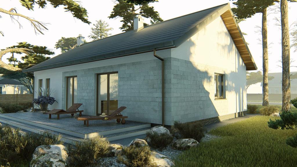 dom parterowy z dachem dwuspadowym KP-101 LUSTRO 2