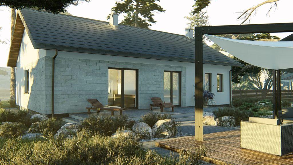 dom parterowy z dachem dwuspadowym KP-101 LUSTRO 4