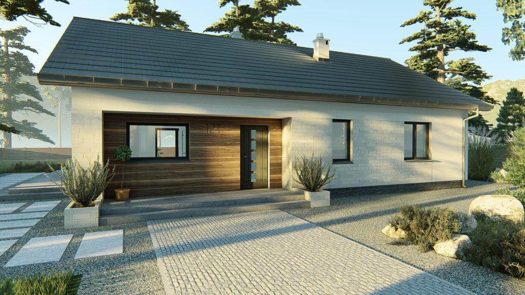 dom parterowy z dachem dwuspadowym KP-121 P (1)