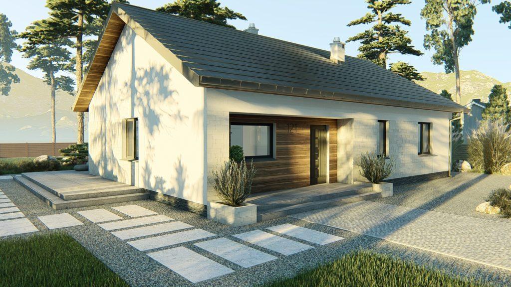 dom parterowy z dachem dwuspadowym KP-121 P (3)