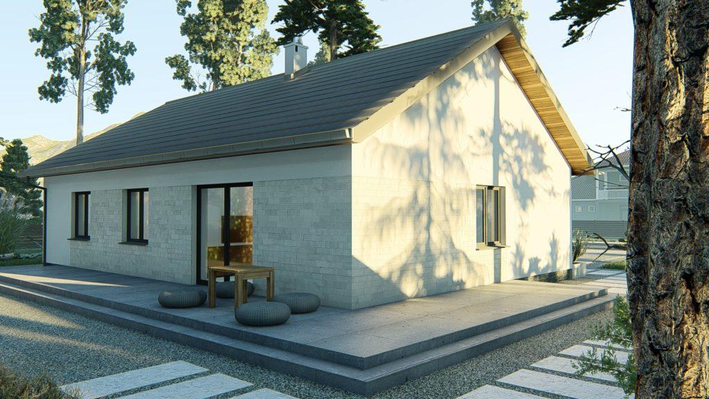 dom parterowy z dachem dwuspadowym KP-121 P (4)