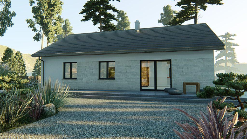 dom parterowy z dachem dwuspadowym KP-121 P (6)