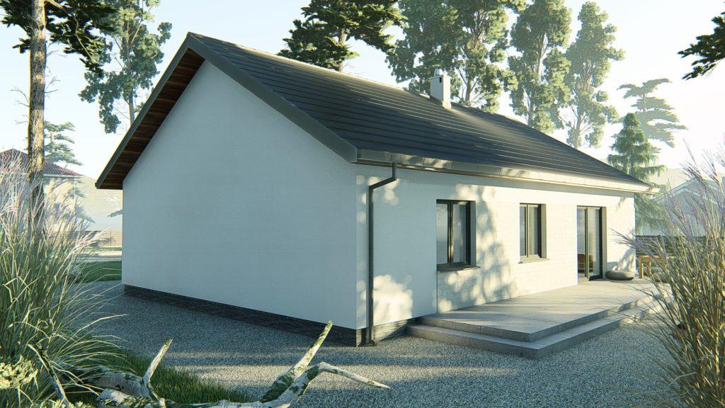 dom parterowy z dachem dwuspadowym KP-121 P (7)